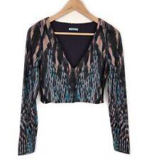 Nylon Long Sleeve Crop Tops for Women