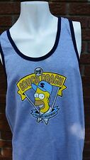 "2003 Homer Simpson ""Duff Couch Coach""  Gray Tank Top - Size XL NWT"