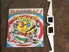 BASEBALL THRILLS 3-D  COMIC BOOK WITH GLASSES NM