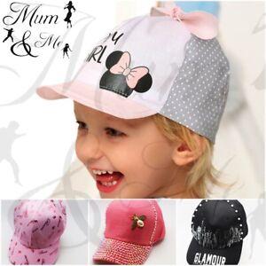 Girls Baby Toddler Baseball Caps Sun Summer Hat Disney Adjustable