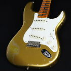 Fender CS 1957 Stratocaster Heavy Relic Aged Aztec Gold over Gold Sparkle Used for sale