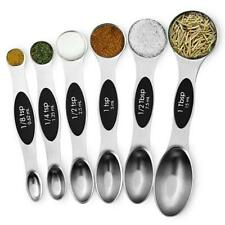 NutriChef NCMMS8 6-Piece Magnetic Measuring Spoon Set, Stainless Steel Stackable