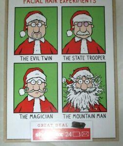 Hallmark Santa's Failed Facial Hair Funny Assortment Box 24 Christmas Cards NEW