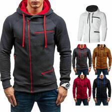 Men's Zip Up Hoodie Jacket Slim Sweatshirt Hooded Pocket Coat Winter Warmer Top