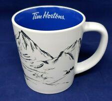 Tim Hortons 2018 Coffee Mug 14oz Limited Edition Blue Interior Skis Cup