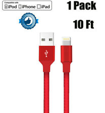 Aokesi 10ft. Braided iPhone Charger Cord - 3 Pack