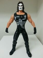 """WCW WWE Wrestling STING 13"""" Talking Action Figure Moving Jaw"""