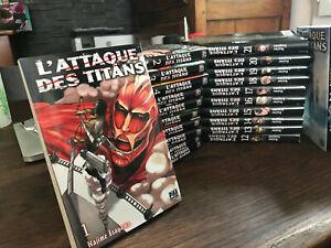 manga  L'Attaque des Titans  vol 1 a 33 par  HAJIME ISAYAMA  Pika edition en VF