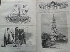 """LE MAGASIN D'ILLUSTRATIONS 1859 N 39 """" LA PAGODE DE LONG- FO, PRES DE CHANG-HAÏ"""