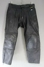 "AKITO BLACK LEATHER BIKER TROUSERS + CE ARMOUR: WAIST 38""/I. LEG 27"" (SHORT FIT)"