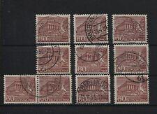 Berlin 54 Plattenfehler I-IX, komplett, gestempelt (B05622)