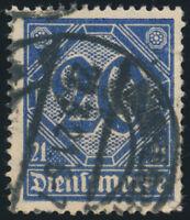 DR DIENST, MiNr. D 19 b, gestempelt, Kurzbefund Winkler, Mi. 950,-
