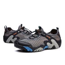 Mens Breathable Mesh Fashion Sneakers Hiking Climbing Shoes Fishing Shoes Flats