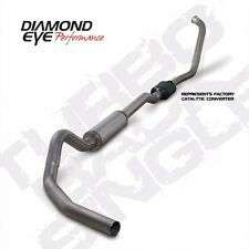 "DIAMOND EYE 4"" STAINLESS TURBO BACK SINGLE EXHAUST FORD 6.0L 2003-2007 # K4334S"