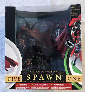 McFarlane 2002 SPAWN I & V The Evolution Two Pack Figures Series 1 & Series 17