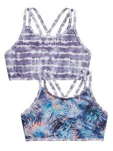 Athleta Girl Tropics Tie Dye Reversible Bikini Swim Top NWT Various Sizes