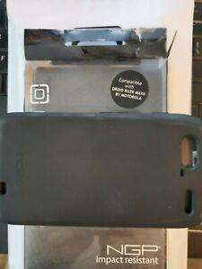Incipio Silicrylic NGP CELL case Motorola Droid Razr MAXX Black SCREEN PROTECTOR