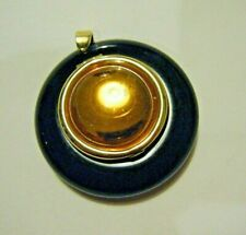 Vtg Paloma Picasso Black and Amber Solid Perfume Compact Pendant