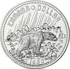 Kanada 1 Dollar Silber 1980 stgl. Arctic Territories - Eisbär