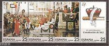 Spain  Edifil # 2887/2890 ** MNH Set 175 Aniv. Constitución de 1812