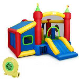 Kids Gift Inflatable Bounce House Play Slide Play Castle Ball Pit 480W Blower