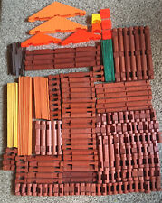 Large Vintage Lot Lincoln Logs Variety Of Pieces Over 220