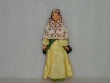 Rare Vintage Plastic Doll In Traditional Costume,Russia/Ussr,Alma Ata-Kazakhstan