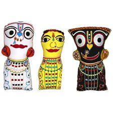 """Jagannath, Baladev, Subhadra Soft Doll Set 8.5"""" &  9"""" & 10"""" - (JCDS)"""
