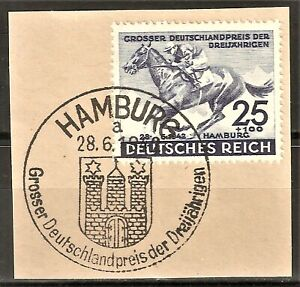 DR WWII Germany Rare WW2 Stamp Hitler's Horse Racing Grand PRIZE Deutschland