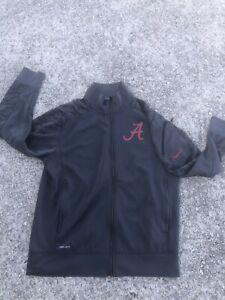 New Nike Alabama Crimson Tide Football Size Mens Large Jacket Sugar Bowl Gray
