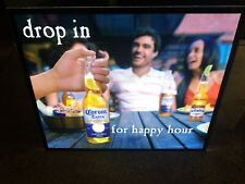 Corona beer dripping limes & bottle motion moving flashing led light up sign bar