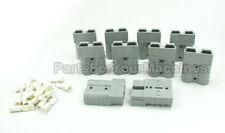 10-PACK, CHARGER PLUG AND TWO CONTACTS, SMALL GRAY, ANDERSON, LOT OF 10 PCS
