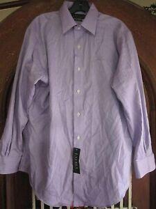 RALPH LAUREN MEN DRESS SHIRT LAVENDER NON IRON SIZE 15 1/2 32/33 NEW NWT