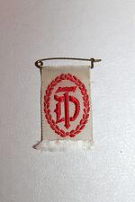 WW2 German National Gymnastics Association 'DT' Ribbon & Pin (Ges. Gesch.)