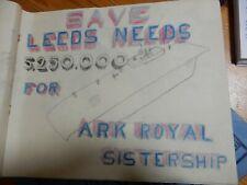 More details for naive ww2 art unique pair  folios a ellyard  leeds hms ark royal rms queen eliza