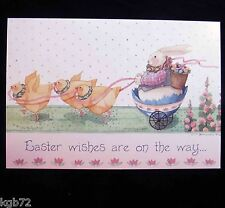 Leanin Tree Easter Greeting Card Bunny Bunnies Flowers Chicks Multi Color E4