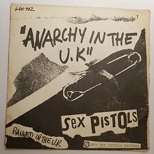 """SEX PISTOLS """"ANARCHY IN THE UK"""" FRANCE PS 1977 ORIG. 640 112"""