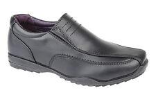 Mens Boys Shoes Slip on Casual Formal School Black US Brass M612 Sizes 7-12 UK 8