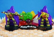 Teenage Mutant Ninja Turtle Michelangelo Donatello Cake Topper Figure Decoration