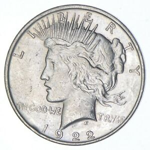 Early - 1922-D - Peace Silver Dollar - 90% US Coin *499