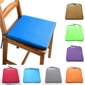 40x40cm Tie on Chair Cushion Pad Seat Patio Indoor Outdoor Garden Kitchen CA