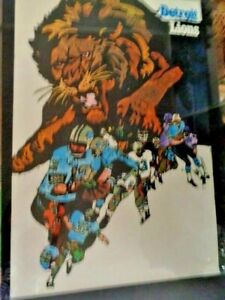 1968 LIONS  NFL FOOTBALL POSTER COLLECTORS SERIES 36 X 24