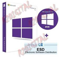 WINDOWS 10 PROFESSIONAL ESD ADHESIVE DVD PRO SEVEN 32 64 BIT LICENSE SOFTWARE