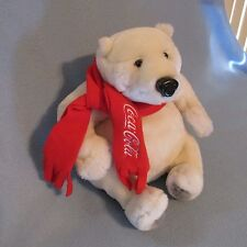"Coca Cola 10 ""  Polar Bear w/Red Scarf HTF McDonald's Convention 2008 Coke"