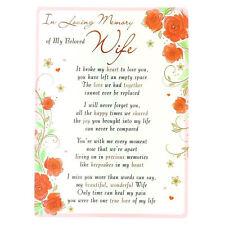 In Memoria Amorevole aperta Cimitero Memorial Card-La mia amata moglie