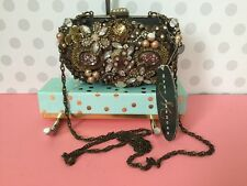 Mary Frances Baroque Victorian Beaded Jewel Tapestry Clutch Shoulder Bag