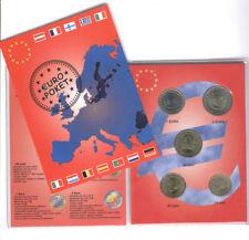Monaco 2002 - Set Of 5 Euro Monete (UNC) ' Molto Raro '