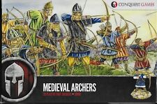Conquest Games Medieval Archers (28) 28mm plastic New!