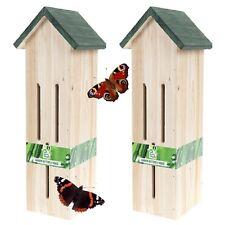 2 x grande in legno farfalla casa giardino decorazione di ornamento 955001