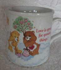 "Stoneware Care Bears Coffee Tea Mug Love Is Great For Growing Things 3.5"" Tall"